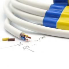 Electric cord, flexible insulation, plastic