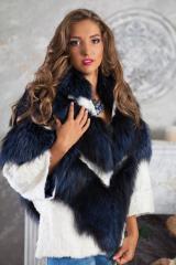 Fur coat coat of fox and karakulcha