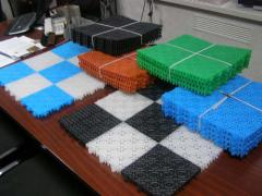 Universal floor plastic modular covering