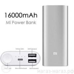 Внешний аккумулятор (power bank) MI 16000mAh (gold, Black, silver)