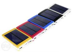 Внешний аккумулятор (power bank) Solar charger 15000mAh + LED 20 smd (три режима)