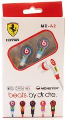 Наушники вакуумные Monster Ferrari MD-A2(Blue)