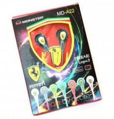 Наушники вакуумные Monster Ferrari MD-A22 (Blue)