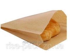 Kraft package of paper brown 15х30 cm