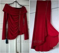 Женский вечерний костюм двойка: юбка и блуза. 46 р. Новый