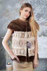 Жилет из канадской норки NAFA real mink fur vest gilet