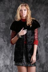 Жилет из датской норки и каракульчи real mink fur vest gilet