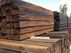Wooden cross ties pine, expor
