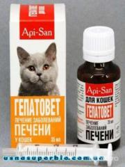 Veterinary preparations for cats
