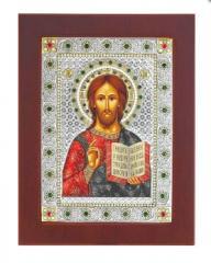 Икона прямоугольной формы В деревянной рамке