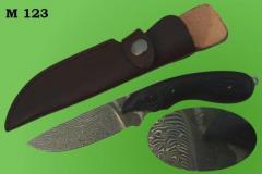 Ножи авторские.  Модель 123. Нож дамаской стали