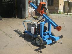 The hydraulic drilling rig with a maslostantion
