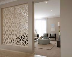 Wooden partition, complex, carved