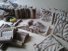 Декоративные элементы из дерева