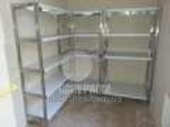 Metal racks of the food industry