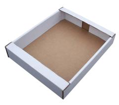 Self-assembling corrugated trays