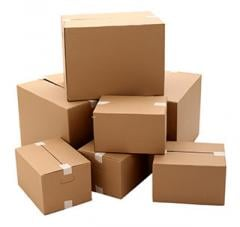 Boxes made of triple-face corrugated board
