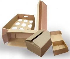 Corrugated trays with vegetable