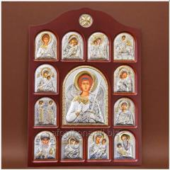 Icon of an arch form In a wooden frame Iconostases