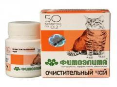 Средство Фитоэлита Очищающий чай для кошек №50 таб
