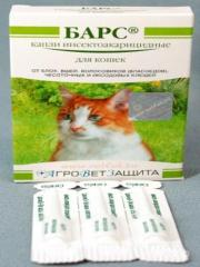 Капли Барс инсект. для котов 3 пип.