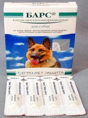 Капли Барс инсект. для собак 4 пип.