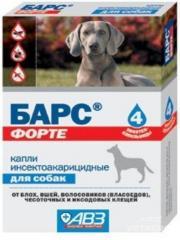 Капли Барс Форте для собак №4 (АВЗ)