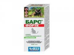 Спрей Барс ФОРТЕ инсект. для котов 100мл (АВЗ)