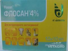 Антибиотик Флосан 4% 10мл №10  (Биофарм)