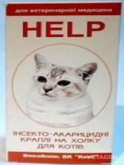 Капли Хелп инсект. для котов 4 пипетки