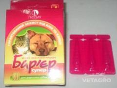 Капли Барьер супер для собак и котов №3