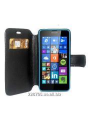Чехол - книжка для телефона Lumia 640. Черный.