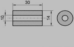 Cylindrical beads (BFC 10/14/30) .Nominalnoe