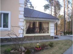Awning curtains for arbors, pavilions in