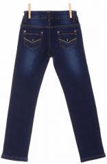 Стильные джинсы синего цвета со стразами