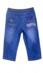Модные джинсовые бриджи голубого цвета на...
