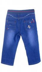 Молодежные джинсовые бриджи голубого цвета...