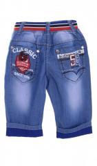 Оригинальные джинсовые бриджи голубого цвета...