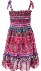 Модный сарафан розового цвета с узором