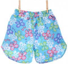 Оригинальные шорты голубого цвета с цветами