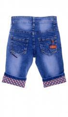 Стильные джинсовые бриджи голубого цвета