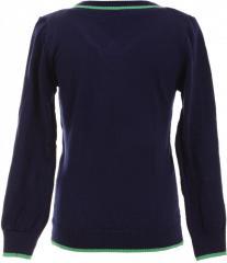 Элегантный свитер синего цвета