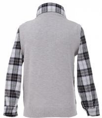 Оригинальная рубашка-жилетка серого цвета