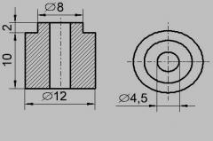 Insulator sleeve TEN 12 / 4.5
