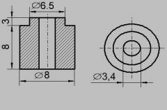 Insulator sleeve TEN 8 / 3.5 (ICTs)
