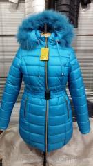 Женская зимняя куртка,  модель Дутик бирюза