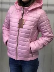 Spring women's jacket, D2 model, color pink.