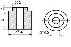 Insulator sleeve heater 7,4 / 3,3 (ICT)