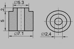 Insulator sleeve heater 7,1 / 2,4 (ICT)