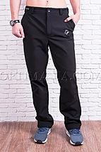 Мужские спортивные брюки софтшелл на флисе